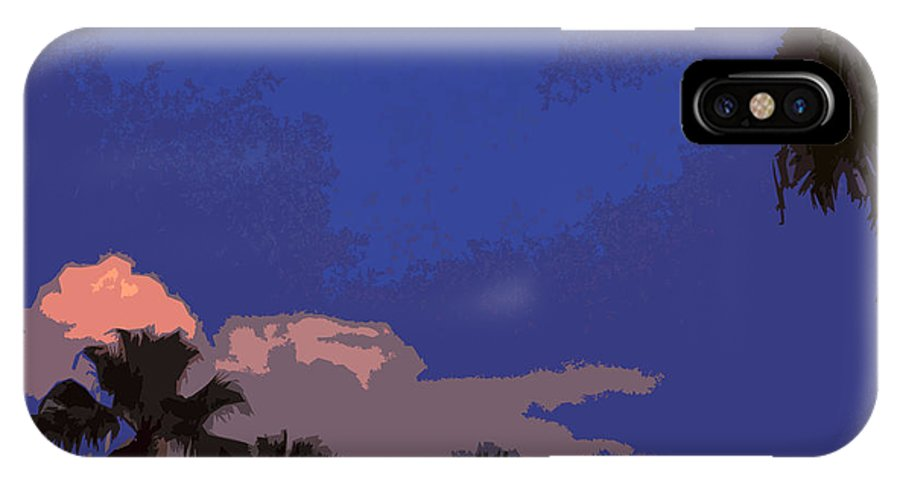 Tropic IPhone X Case featuring the painting Tropic Twilight by Allan Hughes