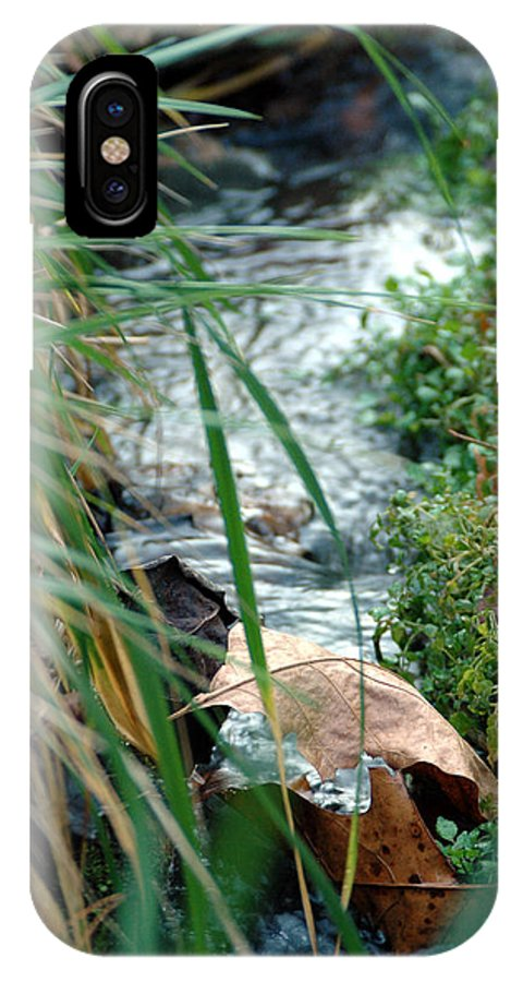 Stream IPhone X Case featuring the photograph Untitled by Kathy Schumann