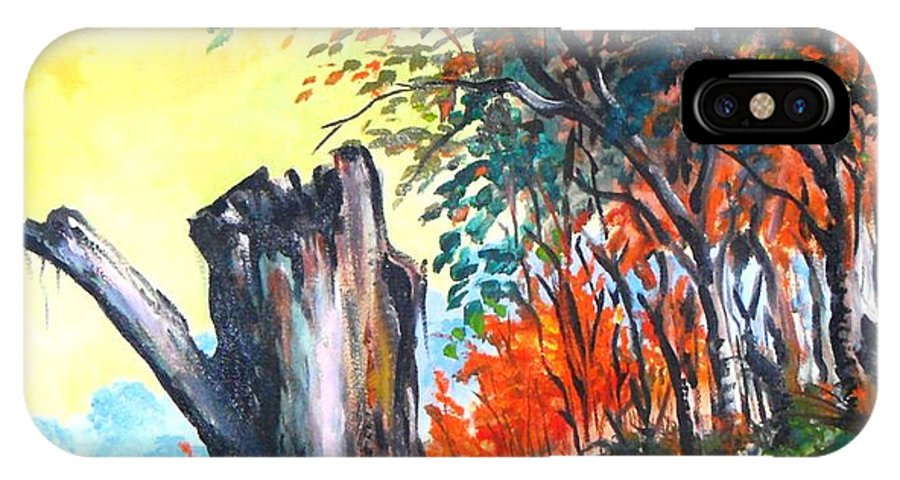 Landscape IPhone Case featuring the painting Verde Que Te Quero Verde by Leomariano artist BRASIL