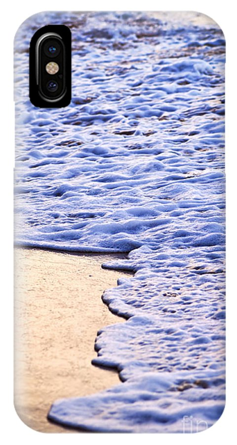 Caribbean IPhone X Case featuring the photograph Waves Breaking On Tropical Shore by Elena Elisseeva