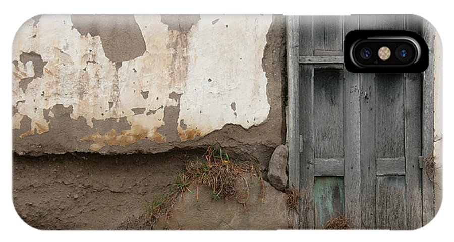 Door IPhone X / XS Case featuring the photograph Weathered Door In A Wall by Robert Hamm