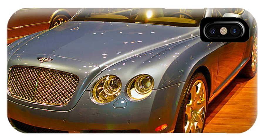 Automotive IPhone X Case featuring the photograph 2006 Chicago 2006 Bentley Continental Gtauto Show by Alan Look
