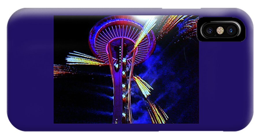 Space Needle IPhone X Case featuring the photograph 2016 At The Space Needle by Maro Kentros