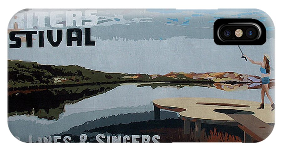 30a Songwriters Festival IPhone X Case featuring the painting 2017 30A Songwriters Festival Banner by Racquel Morgan