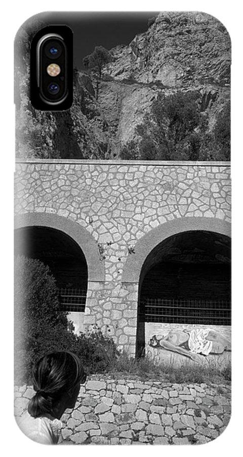 Liguria IPhone X Case featuring the photograph 2017 Malpasso Con Murales by Roberto Ferrero
