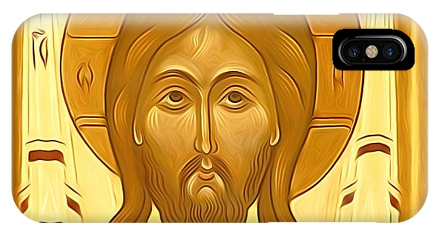 Jesus IPhone X Case featuring the digital art Jesus Christ Religious Art by Carol Jackson