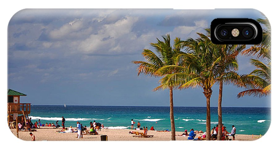 Singer Island IPhone X Case featuring the photograph 23- A Day At The Beach by Joseph Keane