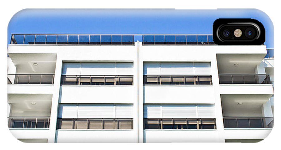 Accomodation IPhone X Case featuring the photograph Modern Building by Tom Gowanlock