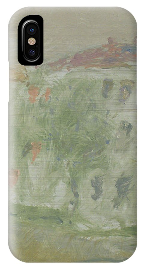 Street IPhone X Case featuring the painting Rostov by Robert Nizamov