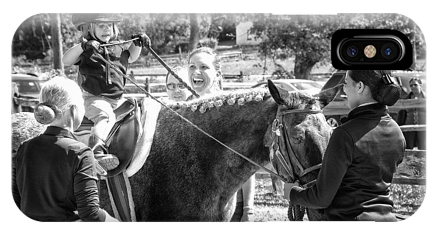 IPhone X Case featuring the photograph Manito Equestrian Center Benefit Horse Show by Scott Lapp