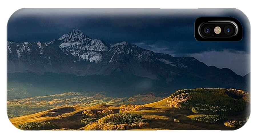 Landscape IPhone X Case featuring the digital art 260841 Landscape by Mery Moon