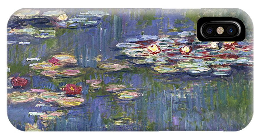 Claude IPhone X Case featuring the painting Waterlilies by Claude Monet
