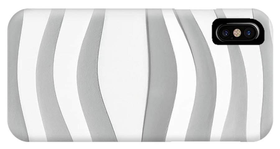Abstract IPhone X Case featuring the photograph White Folded Paper by Alain De Maximy
