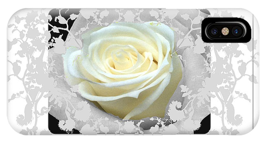 Rose And Lace IPhone X Case featuring the photograph Wedding Rose Collection by Debra   Vatalaro