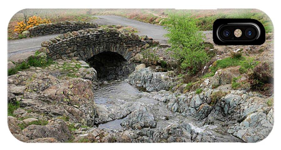 Ashness Bridge IPhone X Case featuring the photograph Ashness Stone Packhorse Bridge, Lake District National Park by Dave Porter