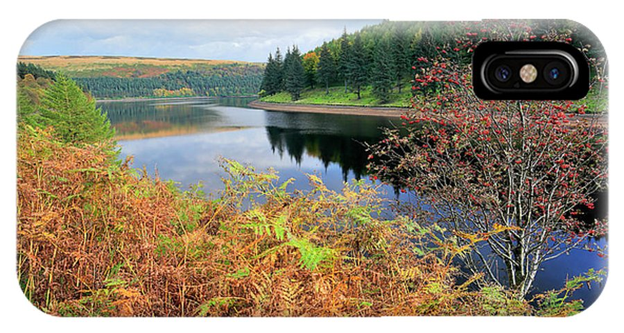 Autumn IPhone X Case featuring the photograph Autumn Derwent Reservoir Derbyshire Peak District by Dave Porter
