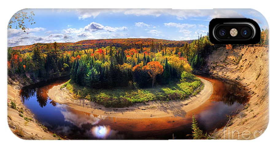 Autumn IPhone X Case featuring the photograph Autumn In Arrowhead Provincial Park by Oleksiy Maksymenko
