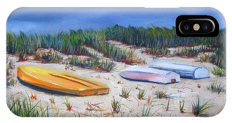 Cape Cod IPhone X Case featuring the painting 3 Boats by Paul Walsh