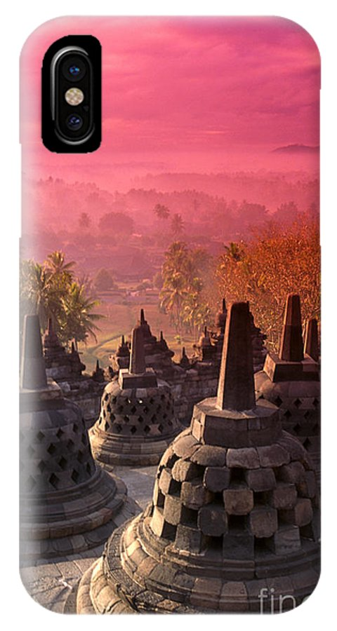 Ancient IPhone X Case featuring the photograph Borobudor Temple by Gloria & Richard Maschmeyer - Printscapes