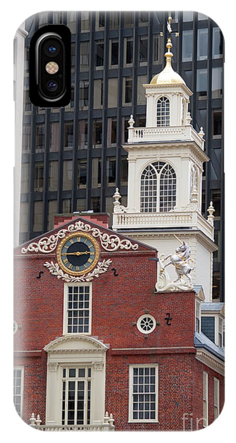 Boston IPhone X Case featuring the photograph Boston Old State House by Michelle Himes