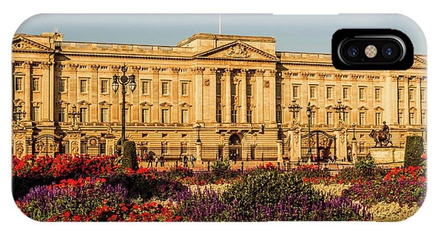 London IPhone X Case featuring the photograph Buckingham Palace, London, Uk. by Nigel Dudson