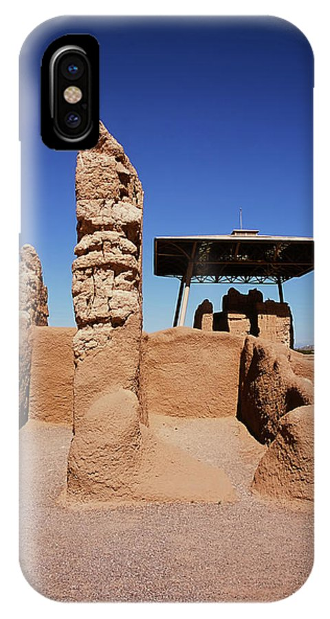 Abandoned IPhone X Case featuring the photograph Casa Grande Ruins by Paul Moore