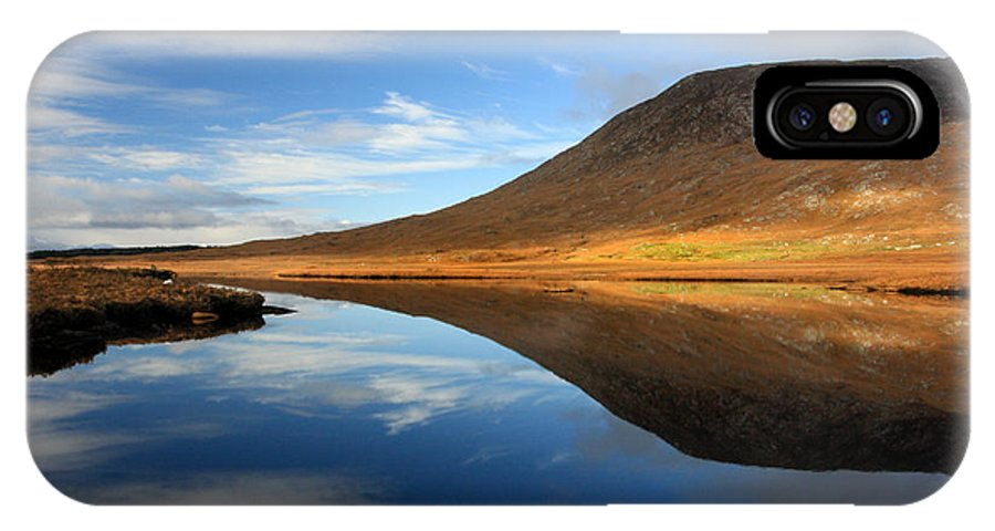 Ireland IPhone X Case featuring the photograph Connemara Lake Reflection by Pierre Leclerc Photography