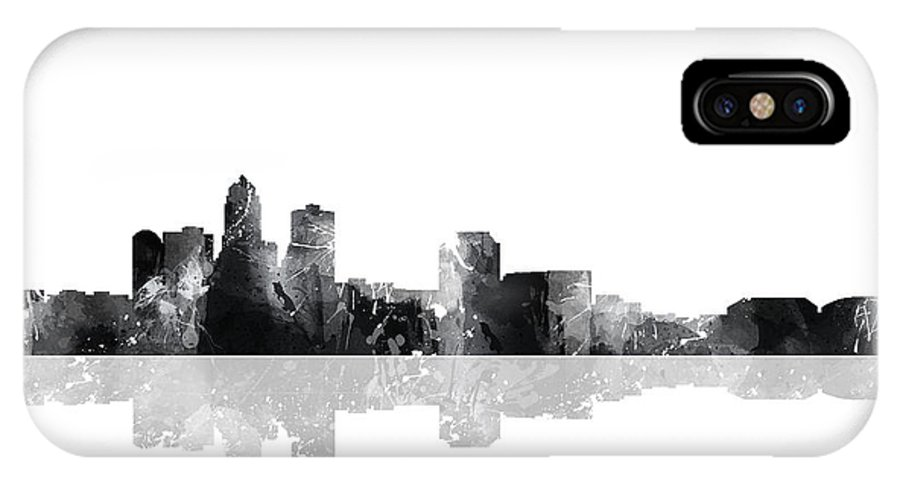 Denver Colorado Skyline IPhone X Case featuring the digital art Denver Colorado Skyline by Marlene Watson