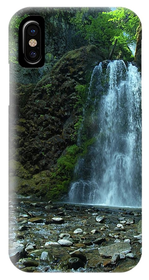 Waterfall IPhone X Case featuring the photograph Fall Creek Falls by Teri Schuster