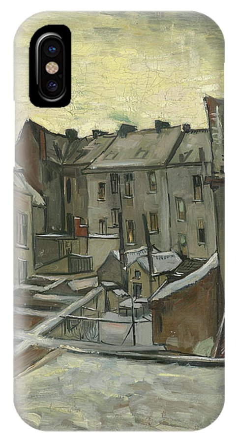 Vincent Van Gogh IPhone X Case featuring the painting Houses Seen From The Back by Vincent Van Gogh
