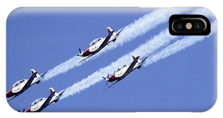 Aerobatics IPhone X Case featuring the photograph Iaf Acrobatic Team by Vladi Alon