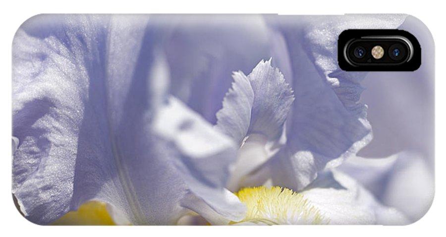 Genus Iris IPhone X Case featuring the photograph Iris Flowers by Tony Cordoza