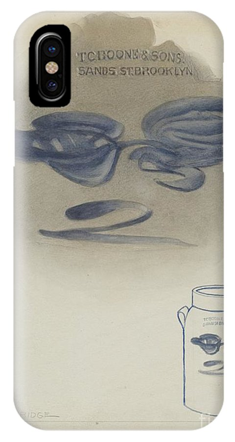 IPhone X Case featuring the drawing Jar by George Loughridge