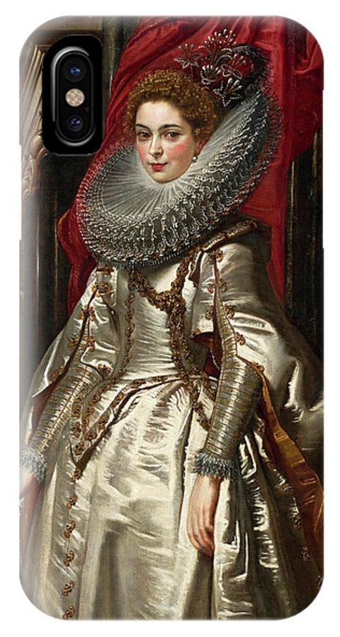 Baroque IPhone X Case featuring the painting Marchesa Brigida Spinola Doria by Peter Paul Rubens
