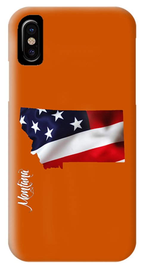 Montana IPhone X / XS Case featuring the mixed media Montana State Map Collection by Marvin Blaine
