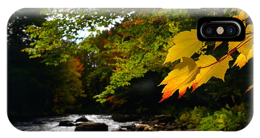 Autumn IPhone X Case featuring the photograph Ontario Autumn Scenery by Oleksiy Maksymenko