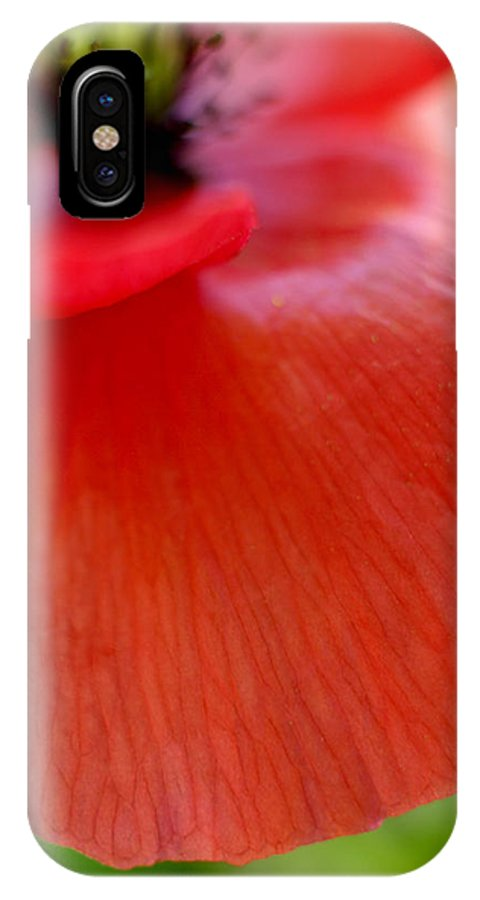 Poppy IPhone X Case featuring the photograph Poppy by Silke Magino