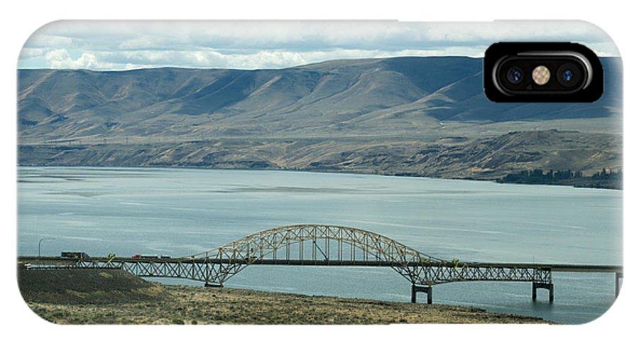 Ginkgo Petrified Forest IPhone X Case featuring the photograph River Bridge by Linda Kerkau