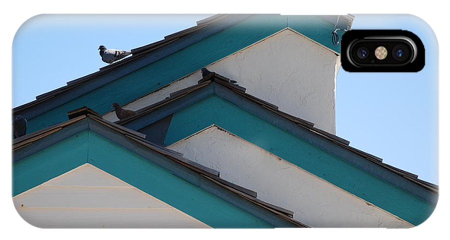 Birds IPhone X Case featuring the photograph 3 Roofs by Rob Hans