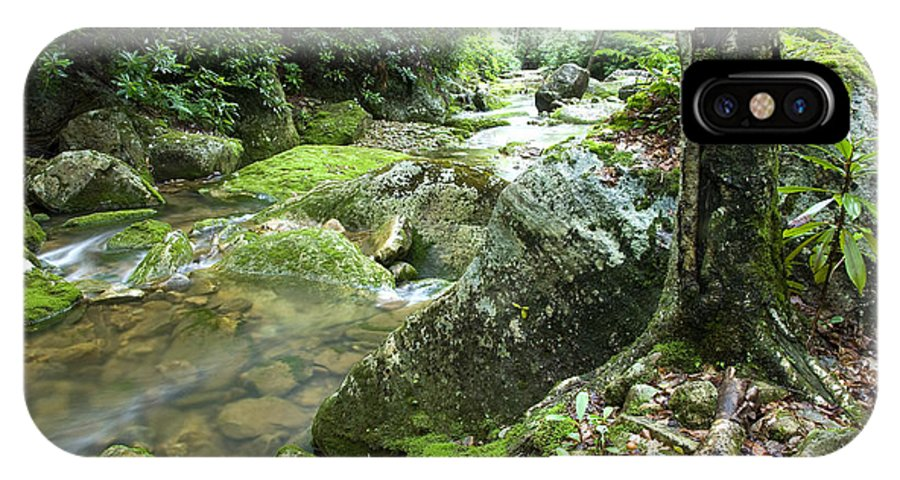 Rushing Mountain Stream IPhone X Case featuring the photograph Rushing Mountain Stream by Thomas R Fletcher