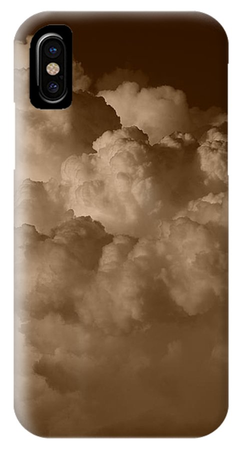 Sepia IPhone X Case featuring the photograph Sepia Clouds by Rob Hans