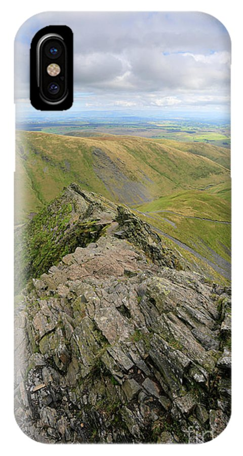 Blencathra IPhone X Case featuring the photograph Sharpe Edge On Blencathra Fell, Lake District National Park by Dave Porter