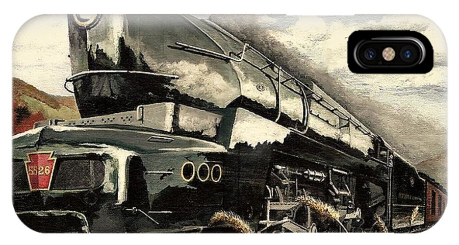 Pennsylvania Railroad IPhone X Case featuring the painting Showin Off by David Mittner