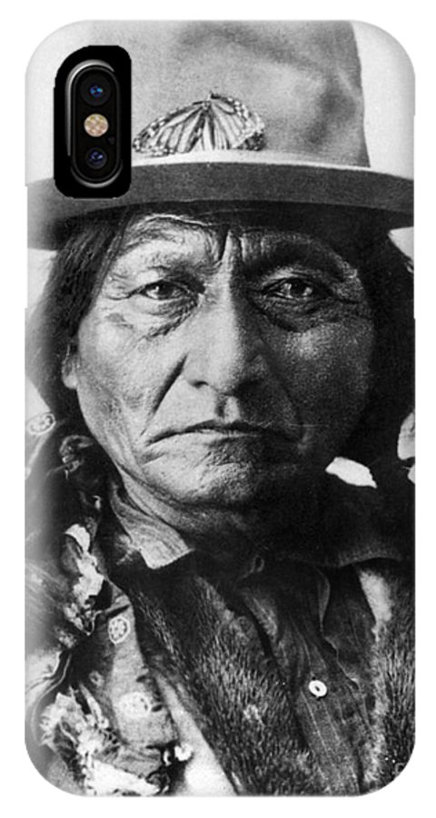19th Century IPhone X Case featuring the photograph Sitting Bull (1834-1890) by Granger