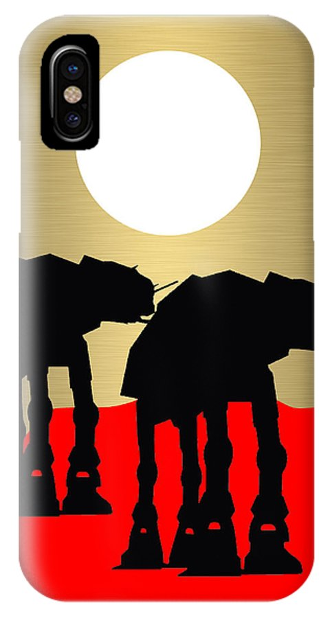 Atat IPhone X Case featuring the mixed media Star Wars At-at Collection by Marvin Blaine