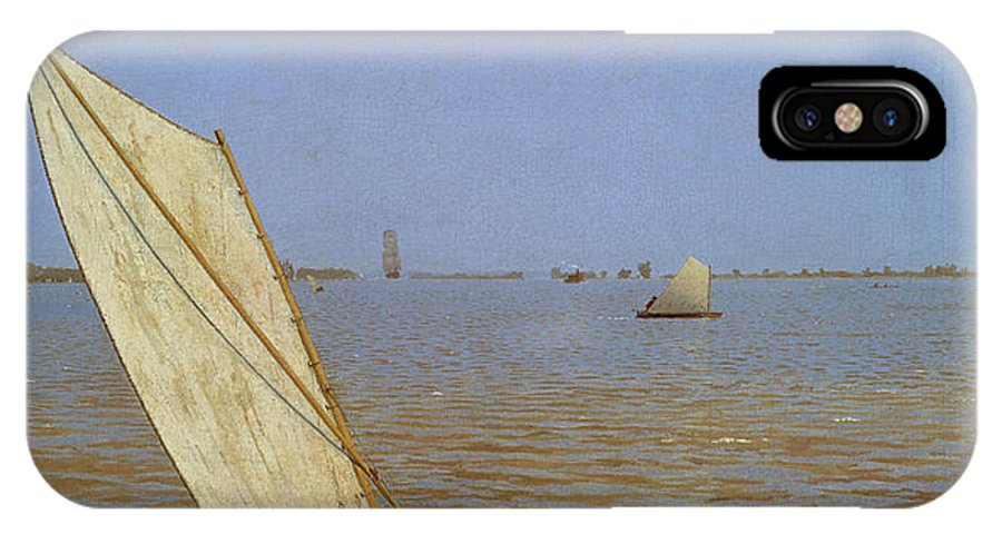 America IPhone X Case featuring the painting Starting Out After Rail by Thomas Eakins