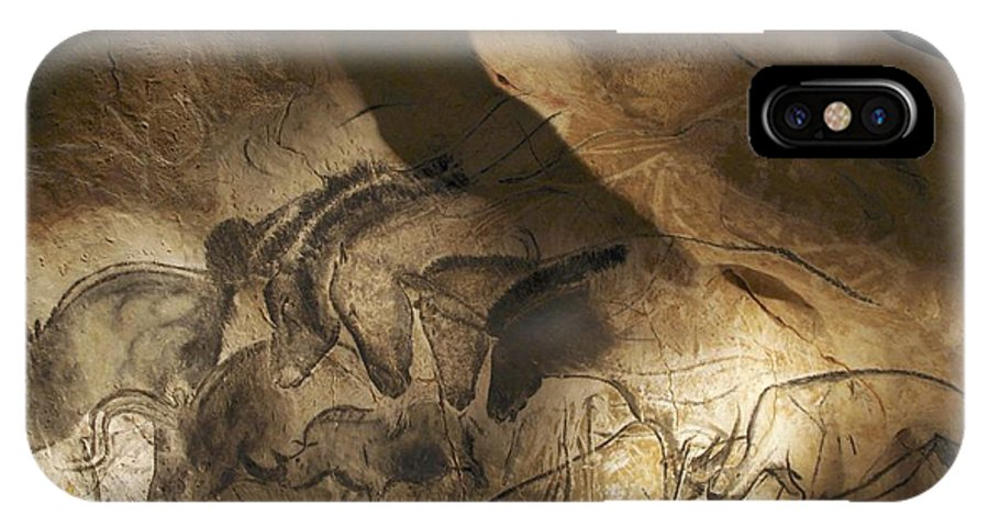 Animal IPhone X Case featuring the photograph Stone-age Cave Paintings, Chauvet, France by Javier Truebamsf