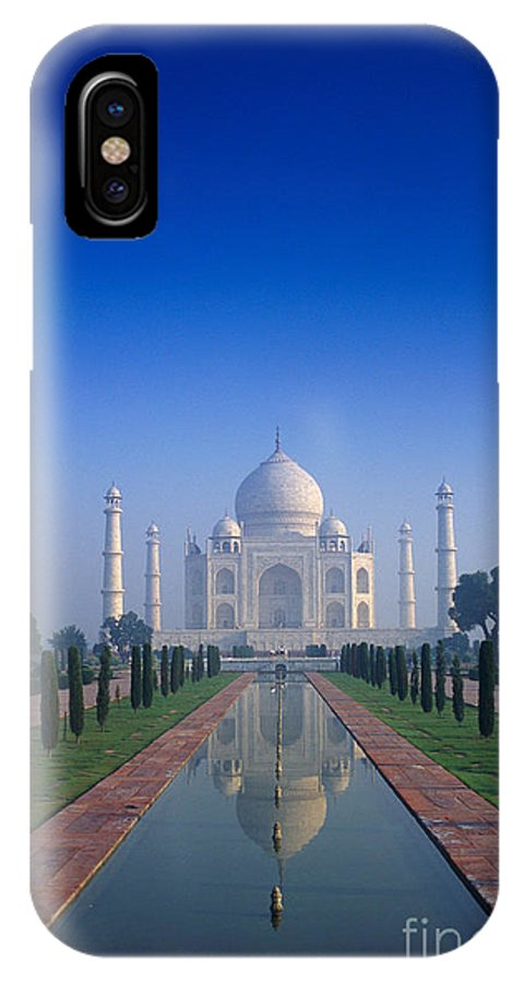 Agra IPhone X Case featuring the photograph Taj Mahal View by Gloria & Richard Maschmeyer - Printscapes