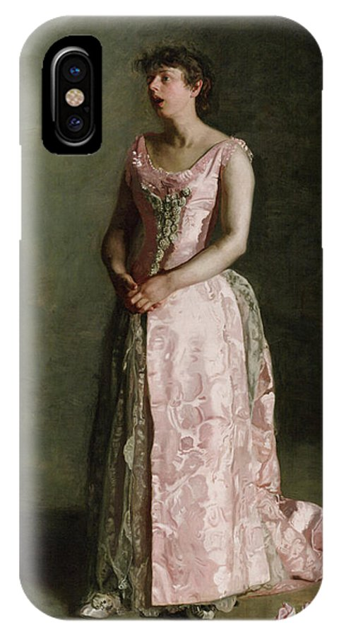 America IPhone X Case featuring the painting The Concert Singer by Thomas Eakins