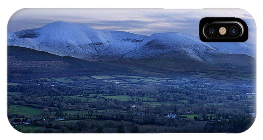Galtees IPhone X Case featuring the photograph The Galtees Ireland's Tallest Inland Mountains by Pierre Leclerc Photography